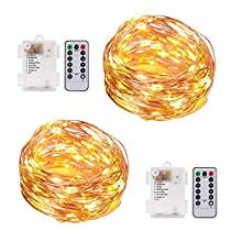 BRAVESHINE String Lights - 8 Modes 100 LEDs - Battery Powered Copper Wire Fairy Lights for Bedroom, Patio, Garden, Wedding, Party, Holiday, Christmas, Indoor Outdoor Decor - Warm White