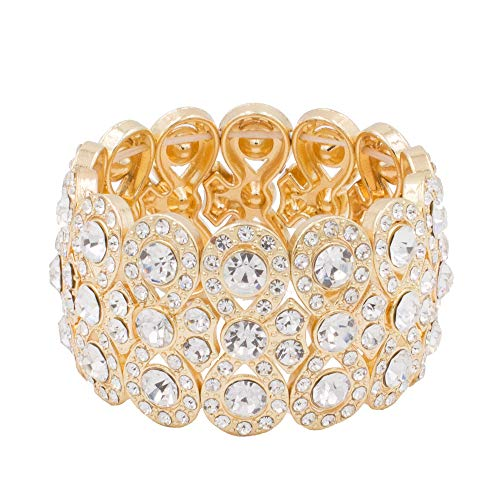 Lavencious Infinity Shape Rhinestone Stretch Bracelet Evening Party Jewelry 7