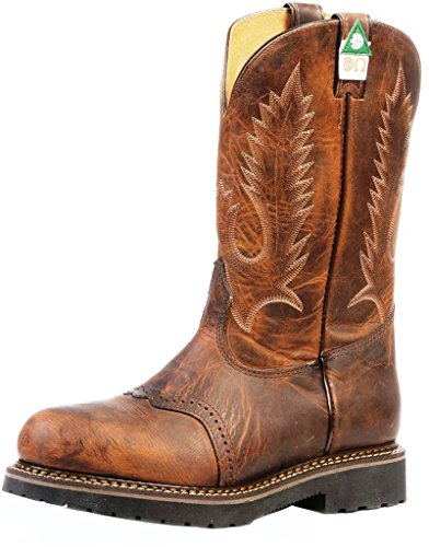 Boulet Mens Laid Back Spice Flame Resistant Work Boot Puntale In Acciaio - 4374 Marrone