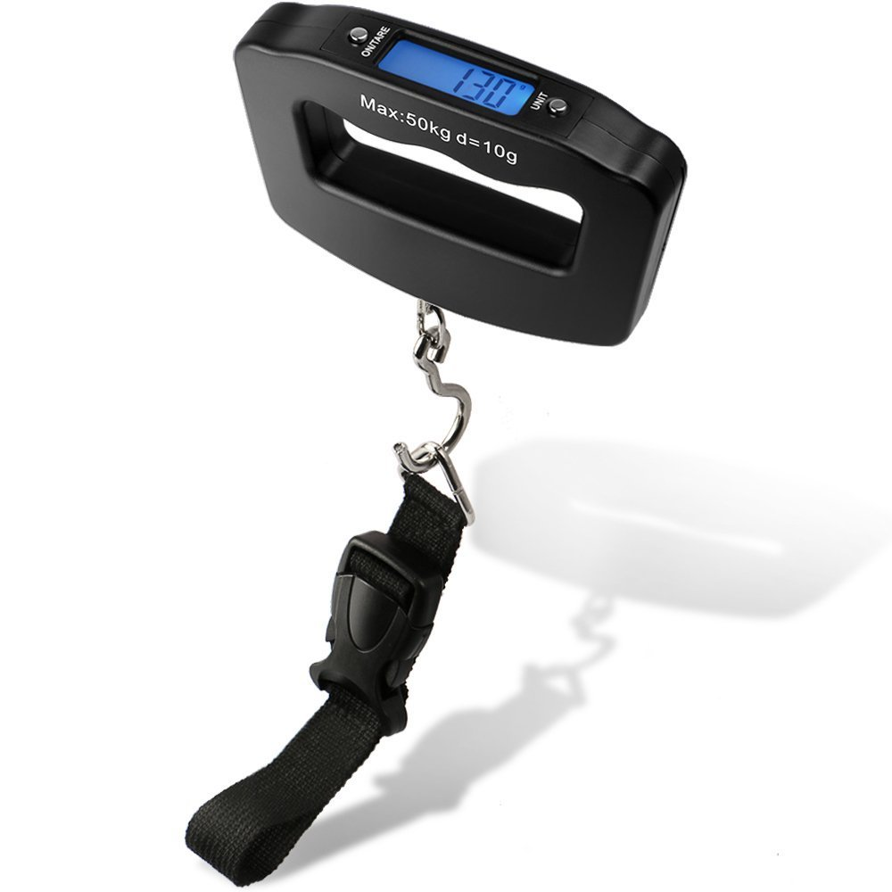 BlueBeach® Portable 50kg LCD Digital Travel Suitcase Scales Weights Luggage Scale Electronic Handheld luggagescale-1