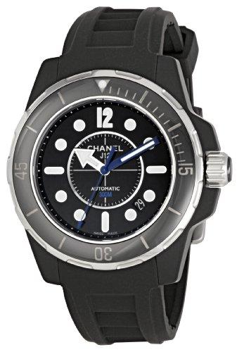 Chanel Men's H2558 J12 Black Rubber Strap Watch