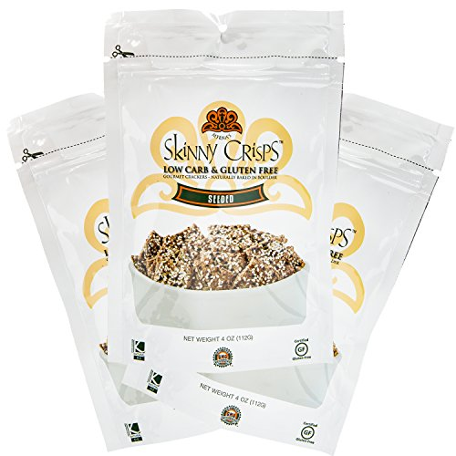 Skinny Crisps Seeded Low Carb & Gluten Free Crackers 4 Ounce Bag (3 Bags) by Skinny Crisps (Image #9)