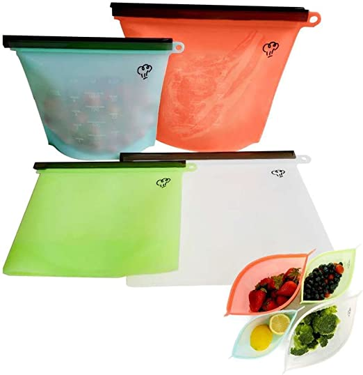 Reusable Silicone Food Storage Preservation Bags Container Versatile Cooking Bag