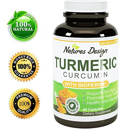 51gDqLKFGQL - Turmeric Curcumin with Bioperine Black Pepper Extract With 95% Curcuminoids Vitamin B6 Manganese & Iron -Powerful Pain Relief Increased Energy & Bone Health Support For Women & Men By Natures Design