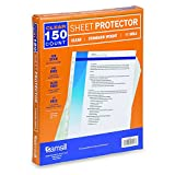 Samsill 11 Hole Sheet Protectors, Standard Weight Clear Plastic Page Protectors, Box of 150, Acid Free / Archival Safe, Top Load 8.5 x 11 Inches