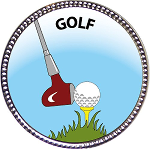 Golf Award, 1 inch dia Silver Pin