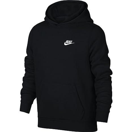 Nike B NSW Hoodie Po Sudadera, Niños, Negro Black/White, S
