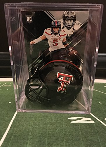 Texas Tech Red Raiders NCAA Helmet Shadowbox w/ Patrick Mahomes card