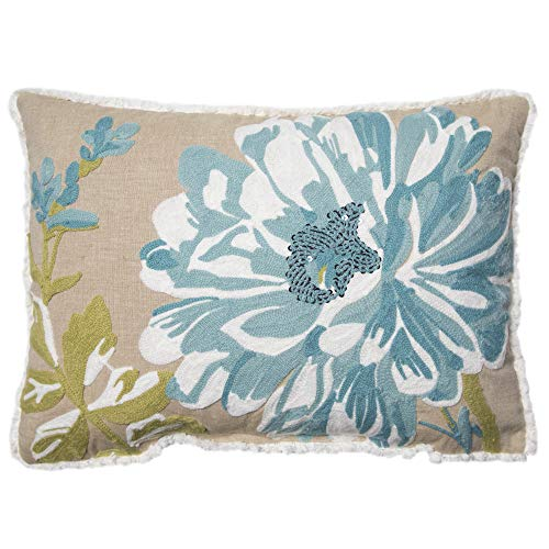 Better Homes and Gardens Bold Bloom Accent Pillow, Blue, 14