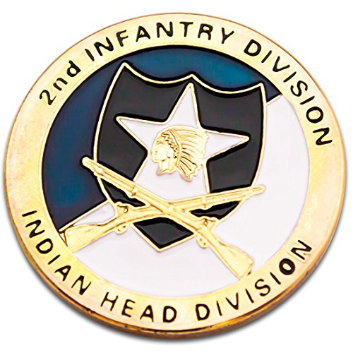 - The USA Army 2nd Infantry Division Challenge Coin Badge A003J