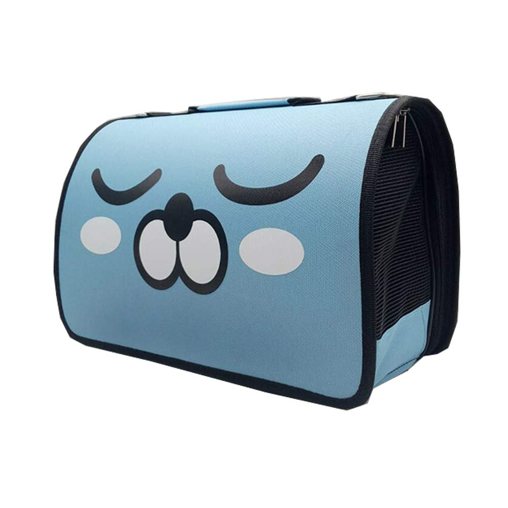 bluee Pet Carriers Dog Sling Bag Cartoon Expression, Breathable cat