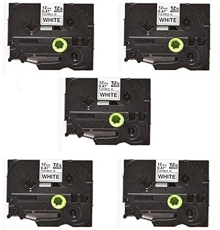 5x Schriftband Kompatibel zu Brother P-Touch TZ-FX231 TZe FX231 PT200 PT7100