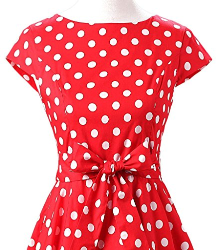 Eudolah - Vestido - trapecio - Sin mangas - para mujer Rojo