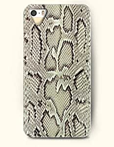 Apple iPhone 4/4S Cover Cute Serpent Pattern - Hard Back Plastic Case / Snake Skin Print / OOFIT Authentic