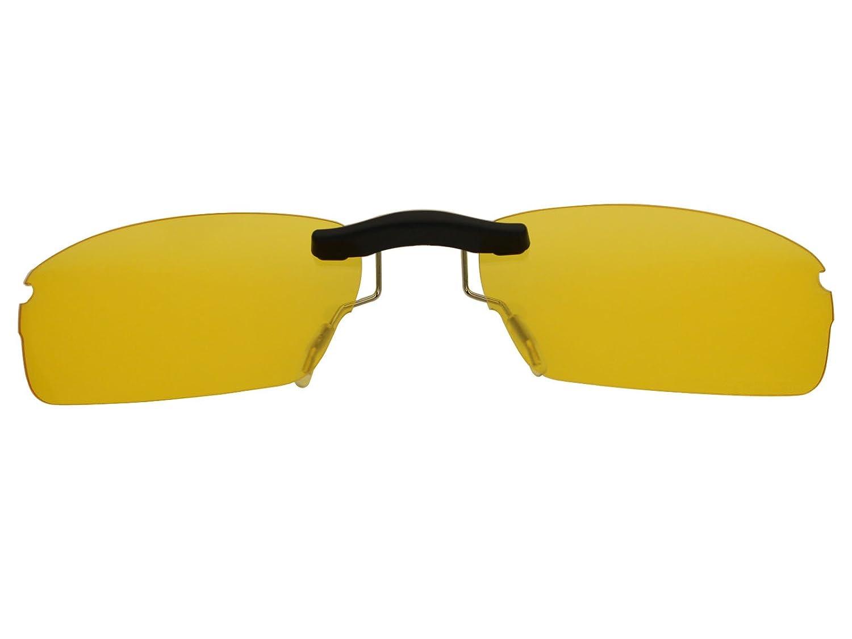 b9871ba960 Custom Fit Polarized CLIP-ON Sunglasses For Oakley Rhinochaser OX3111 52X19  HD Yellow - - Amazon.com