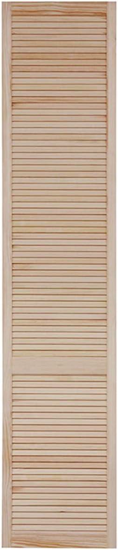 M/öbel Kiefer Holz unbehandelt Schr/änke Lamellent/ür Holzt/ür natur 61,5 x 39,4 cm mit offenen Lamellen f/ür Regale