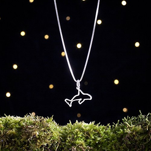 Sterling Silver Orca Whale - Small, Lightweight, Everyday Jewelry (Charm, Necklace or Earrings) ()