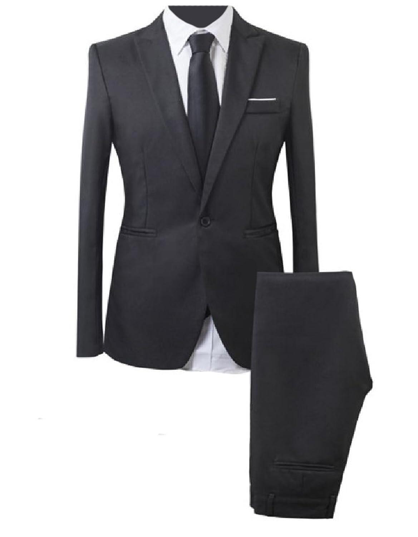 Top Comfy-Men Slim Casual Single Button Formal Dress Suit & Pants Set