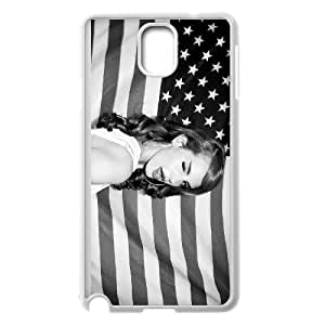 Lana Del Rey American Flag Wink Blink Eye case ,TPU Phone case for SamSung Galaxy Note3,white