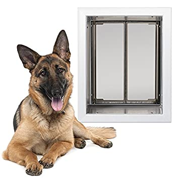 Amazon Orvis Wall Mount Dog Door White Xl Pet Supplies