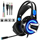 PHOINIKAS H4 Stereo Gaming Headset for PC, PS4, Laptop, Xbox One,...
