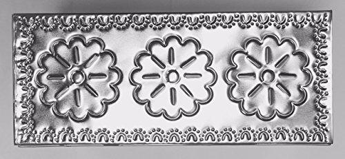 Tin Tissue Box Shiny Rectangular Large