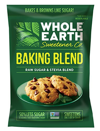 Cane Whole Sugar (WHOLE EARTH SWEETENER CO. Baking Blend, Raw Sugar & Stevia Blend, Sugar Substitute, Stevia Sugar, Stevia Baking, Sugar Substitute, 1.5 Pound)