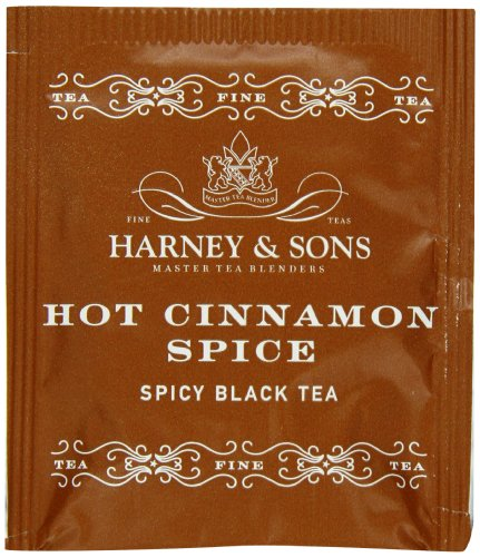 Harney & Sons Hot Cinnamon Spice Tea, 50 Tea Bags (Flavored Tea Orange Black Spice)