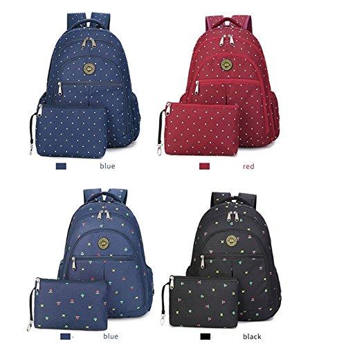 welkey bebé bolsa de pañales bolso de mano mochila de viaje de gran capacidad aislante bolsa para cochecito pañal Mochila bolsa de transporte azul azul oscuro negro