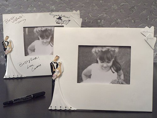 Best Wedding Wishes Photo - Best wishes Signature photo frame by Cassiani Collections Wedding Favors