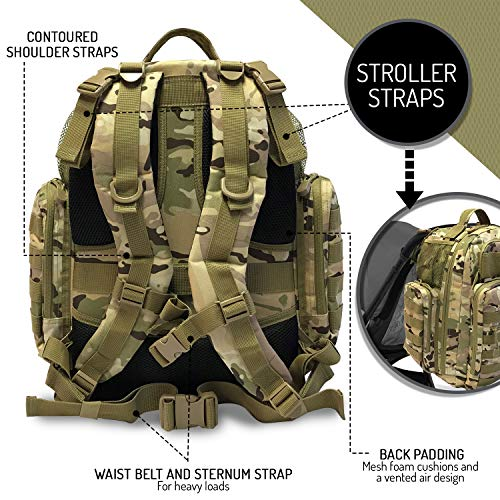 Stroller Straps for The Tactical Dad Changing Pad Black HSD Diaper Bag Backpack Insulated Pockets