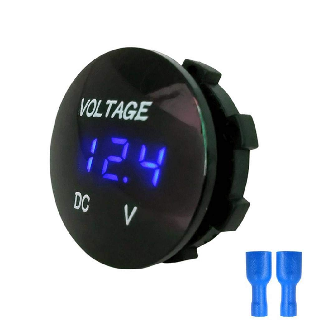 Grebest DC Voltmeter Maintenance Tools Voltmeter 6-30V Car Motorcycle LED Panel Digital Voltage Indicator Meter DC Voltmeter Red