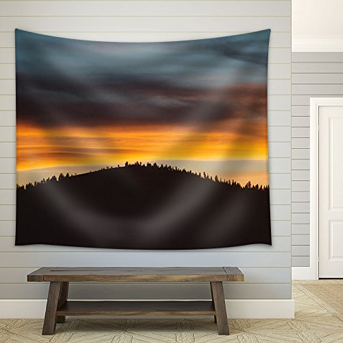 Mountain at The Dusk Fabric Wall