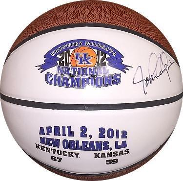 Sports Memorabilia John Calipari signed 2011-2012 Kentucky Wildcats National Champions Logo Full Size Basketball- JSA/BAS Guaranteed To Pass - PSA/DNA Certified