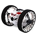 GBlife 2.4GHz Wireless Remote Control Jumping RC Toy Cars Bounce Car No WIFI for Kids (White)