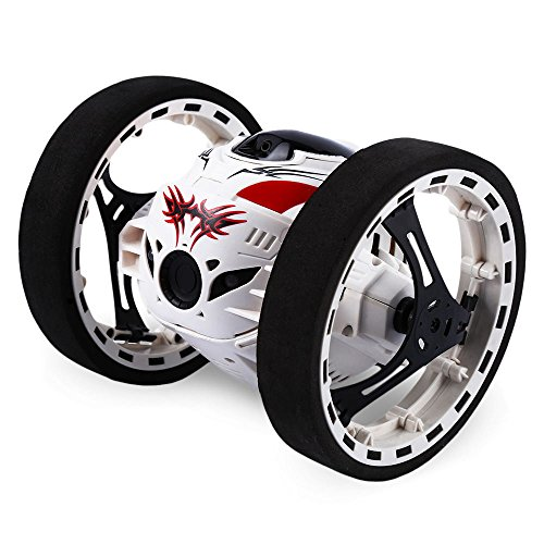 Gblife 2 4Ghz Wireless Remote Control Jumping Rc Toy Cars Bounce Car No Wifi For Kids  White