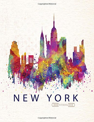 Notebook: New York cover and Dot pages, Extra large (8.5 x 11) inches, 110 pages, notebooks and journals (New York notebook,with Dot pages, Extra large (8.5 x 11) inches, 110 pages) (Volume 1)