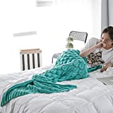 Sui Warm and Soft All Seasons Mermaid Blanket Sofa Quilt Living Room Blanket for Adult / Kids (Medium , 180*80CM) (Mint Green)