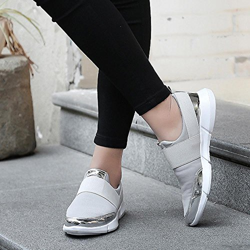 Chaussures Cuir Mocassins Chaussures Mesh de Casual Gris Soft Voyage Running Plates zycShang Chaussure Chaussures Hommes Sneakers Basses Femmes Respirant Gym Chaussures Chaussures en want8x