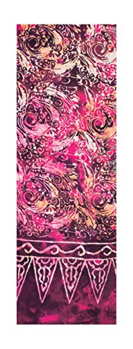 Scarf - Violet and Reddish Shades with Spiral Abstract