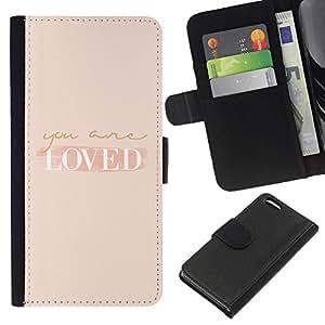 Stuss Case / Funda Carcasa PU de Cuero - Son Autoayuda Peach Motivación - Apple Iphone 5C