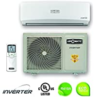 Air-O-Matic Mini Split Inverter Air Conditioner 12,000 BTU/16 SEER/220V with Heat Pump & Ductless Wall Mount, Pearl Series