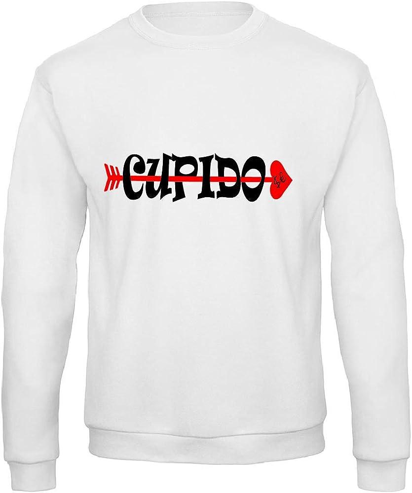 Art T-shirt, Sudadera Raglan Sfera Cupido, Hombre Bianco XL: Amazon.es: Ropa y accesorios