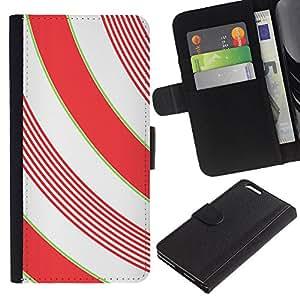 Planetar® Modelo colorido cuero carpeta tirón caso cubierta piel Holster Funda protección Para Apple (5.5 inches!!!) iPhone 6+ Plus ( Lines White Minimalistic Girly )