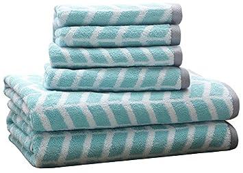 Intelligent Design ID91 524 Nadia 6 Piece Cotton Jacquard Towel Set 28 X 54quot