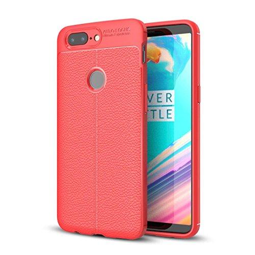 Bescita Weiche Silikon Gel Handyhülle Schutzhülle Hülle Cover Case für OnePlus 5T Rot iwRDusZEd