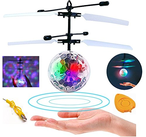 Charming Child and Boy Toys, RC Flying Ball, Infrared Induction Helicopter Ball with Rainbow Shinning LED Lights and Distant Management for Children, Flying Toy for Women and Boys by LXS.  Critiques