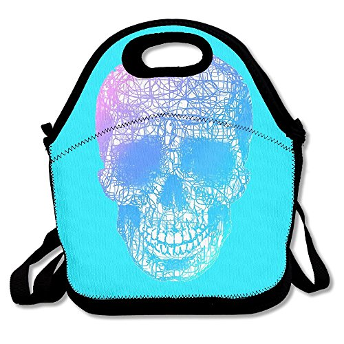 ZGZGZ Twisted Skull Head Adjustable Straps Lunch Box Bag Tote Holder Suitable For Students And Working Families