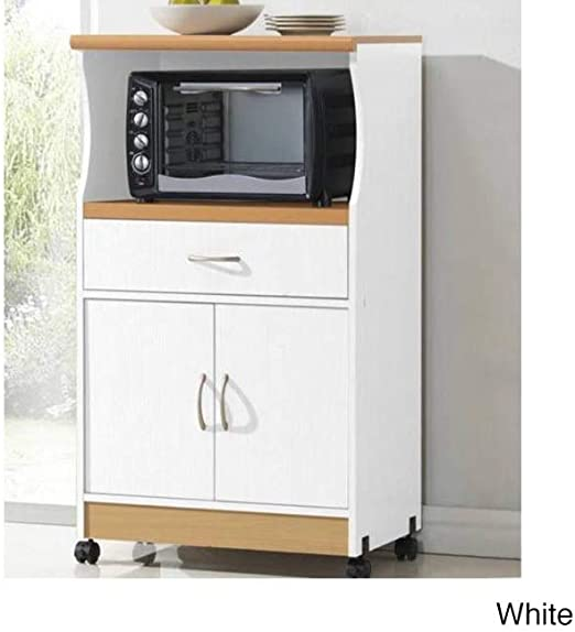 Amazon.com: Carro de microondas soporte, Blanco: Kitchen ...
