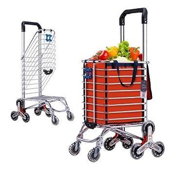 D&F Carro de la Compra Escalera Escalada Mercado de los Agricultores Carro Escalera Escalada Multipropósito Supermercado